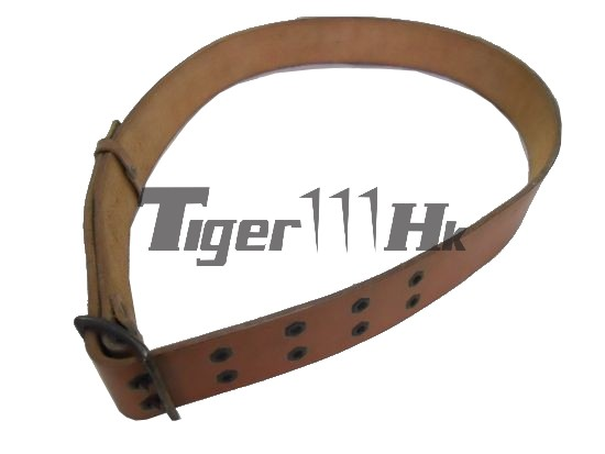 "Retro 2"" WW II Hard Leather Belt (2 Hole)"