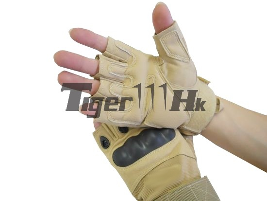 ELEMENT GEAR SI Assault Half Gloves - TAN