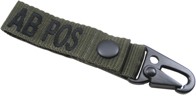 King Arms  Blood Type Strap Holder - AB - OD