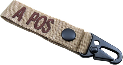 King Arms  Blood Type Strap Holder - A -TA