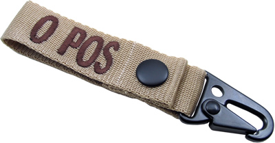 King Arms  Blood Type Strap Holder - B - TA