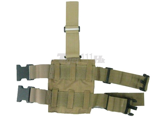 Triple All Pistol Magazine Nylon Leg Pouches -CB