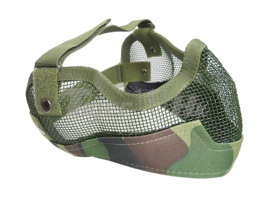 EAIMING Ver.II Metal Steel Reticular Half Face Mask (Woodland)
