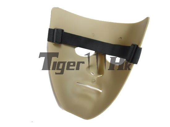 Human Man Full Face Hard Plastic Mask - DARK EARTH DE