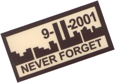 911 never forget patches