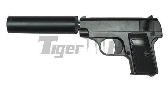 cal 6mm zinc metal spring gun pistol with silencer g 1a airsoft