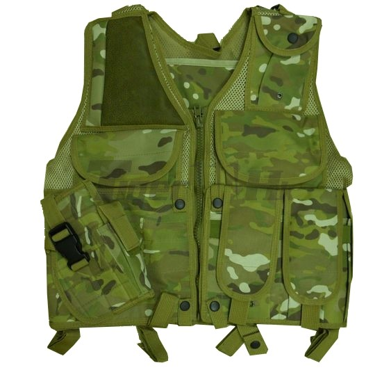 US Army Assault Tactical Vest with Holster (MultiCam)