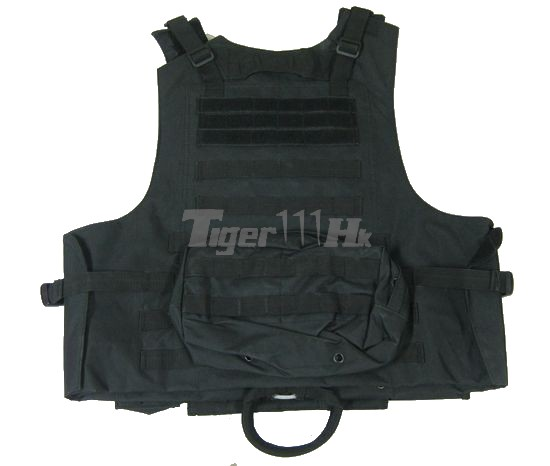 NOB RAV MOLLE Vest with Velcro & Pouches (Black)