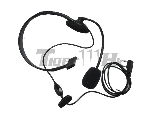 EAIMING Walkie Talkie PTT Single Headset Mic For KENWOOD TK