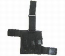 Triple All Pistol Magazine Nylon Leg Pouches -Black