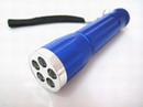 Mini Super Bright 5 LED Blue Outdoor Alloy Flashlight