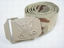 U.S. Navy Tactical Metal Buckle CAMO Nylon Belt - DC