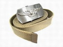 US AIR WARFARE Seal Tactical Metal Buckle Nylon Belt - TAN