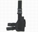 SWAT Universal Combat Pistol Right Leg Holster+Mag Pouch - Black