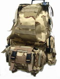 USMC Assault MOLLE Desert Camo Tactical Gear Backpack -DC