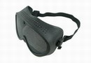 Prevents Fogging Metal Net Protective Goggle - Black