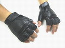 SWAT Half Finger Soft & Flexible Leather Combat Glove