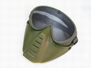 Paintball Wargame Protect Tactical Reticular Full Face Mask -OD