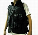 SWAT Assault Tactical Vest with Holster - BK