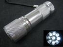 Bright 9 LED Outdoor Aluminum Alloy Short-Flashlight - Silver