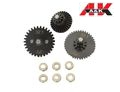 A&K Airsoft 32:1 Ratio V2./V3 AEG Gear Set w/9mm Bearing