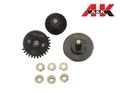 A&K Airsoft 100:200 Ratio V2./V3 AEG Gear Set w/9mm Bearing