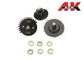 A&K Airsoft 16:1 Ratio V2./V3 AEG Gear Set w/9mm Bearing