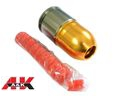 A&K 80mm Long Paintball/BB 40mm Gas Grenade-Gold