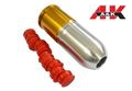 A&K 110mm Long Paintball/BB 40mm Gas Grenade-Silver