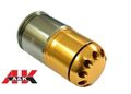 A&K Metal 84rds 40mm Gas Grenade Cartridge Shell-Gold