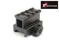 EAIMING CNC 4 Slot 30mm high Airsoft Tri-rail Barrel Mount