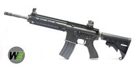 WE Full Metal HK416 Open-Bolt GBB Rifle - Black (No Marking)