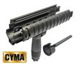CYMA MP5 Rail Cover Handguard & Foregrip w/Outer Barrel-BK sale