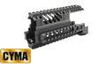CYMA X47 Aluminum Upper & Lower Handguard Set For AK Series-BK