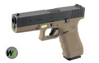 WE G17 Gen4 Rail Steel Silde GBB Pistol (BK & DE)