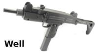 WELL UZI Submachine Gun AEG( Foldable Stock)(Black)(R1)