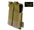 FLYYE Cordura Single deck .45 double Mag Pouch (Coyote Brown)