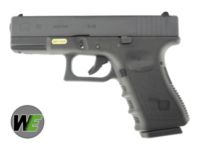 WE G19 Rail Steel Silde GBB Pistol (Black)