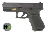 WE G19 Gen4 Rail Steel Silde GBB Pistol (Black)