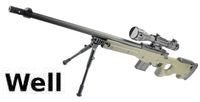 WELL L96AWS Sniper Rifle with Scope & Bipod(Olive Drab)