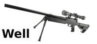 WELL MB13D Silencer Sniper Rifle w/ Bipod & Scope(Black)