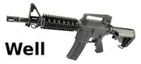 WELL Metal M4 RIS CQB AEG(Extended Stock)(Black)(R18)