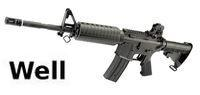 WELL M4A1 AEG w/ Removeable Rear Sight(Original)(Black)(R21)