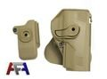 Army Force IMI Style Belt Holster For PX4 w/Mag Pouch-Dark Earth