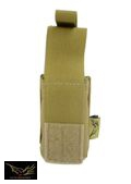 Flyye Nylon Single 9mm Pistol Magazine Pouch Ver.HP(Coyote Brown