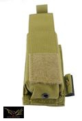 Flyye Nylon Single 9mm Pistol Magazine Pouch Ver.HP(Khaki)