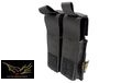 FLYYE Cordura Single deck .45 double Mag Pouch (Black)