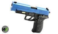 WE FullMetal Tactical F226 Rail Gas Blow Back Pistol(Blue Slide)