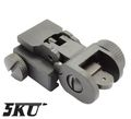 5KU Steel Folding Battle Rear Sight For 20mm Rail-Black