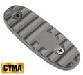 CYMA AK stock butt plate type B - Black